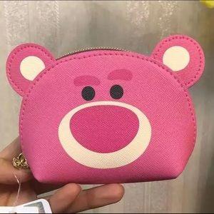 NWT Disney Toy Story Lotso Bear coin bag